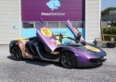 Mc Laren autoreclame carwrap Moerdijk Roosendaal Breda