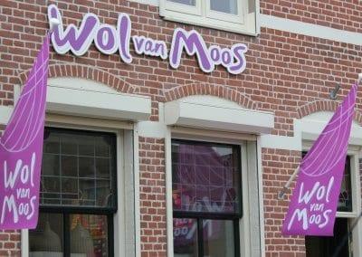 Wol van Moos gevel (4) bedrijfswagen bestickering