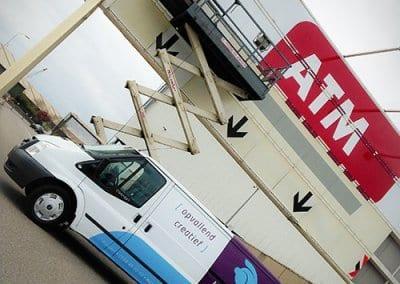 ATM bedrijfswagen bestickering
