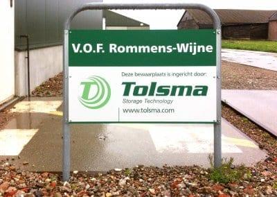 V.O.F Rommens-Wijne Wegbord