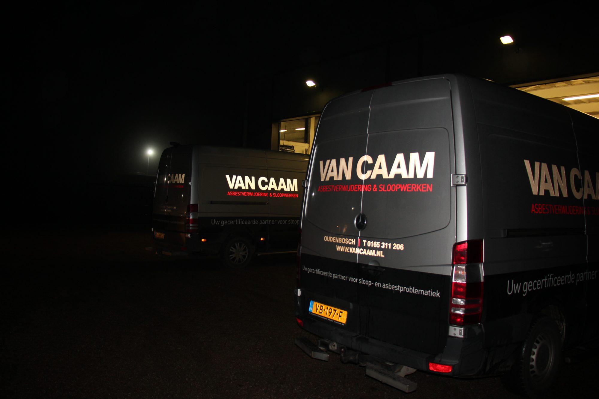Van Caam reflecterende auto